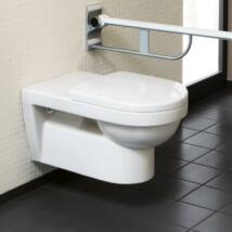 Villeroy & Boch Omnia Vita fali wc mozgáskorlátozottak részére, szürke