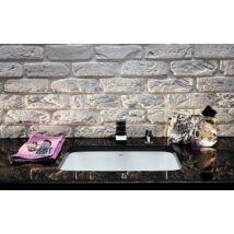 KOLO Style 52 cm-es alulról beépíthető mosdó, csaplyuk nélkül, túlfolyóval elől