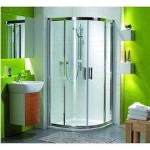 KOLO Geo-6 íves zuhanykabin 90x90 cm, tolóajtóval, Átlátszó üveggel