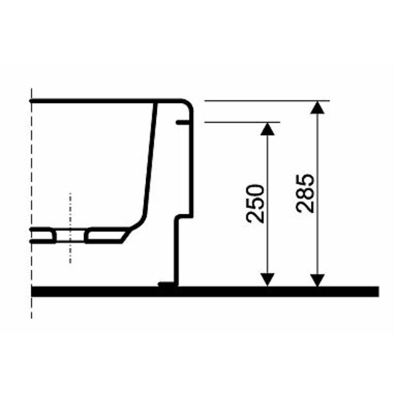 KOLO előlap a STANDARD PLUS 80 zuhanytálcához, íves