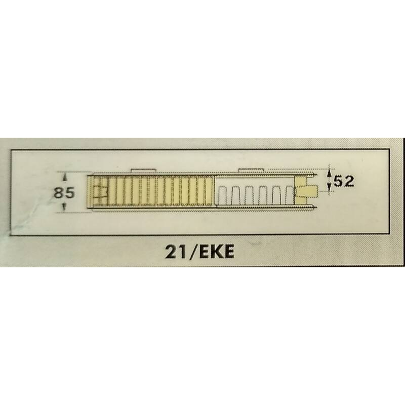 RADEL RADIÁTOR 21/EKE 300-500 397W SZELEPES