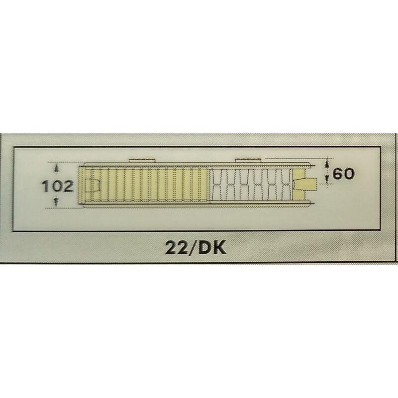 RADEL RADIÁTOR 22/DK 600-400 685W SZELEPES